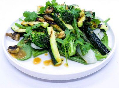 Gegrilde groenten met misopasta